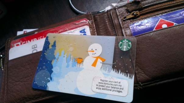 Starbucks Card - this is the Christmas limited edition.