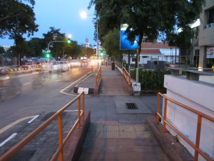 Pedestrian walk along Street Light. Disabled-friendly and very clean!