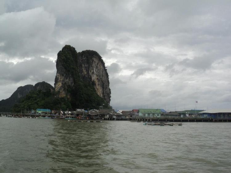 Approaching Koh Panyee...