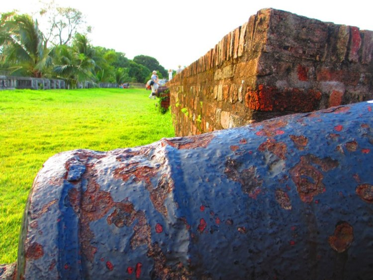 Old cannon facing the sea.
