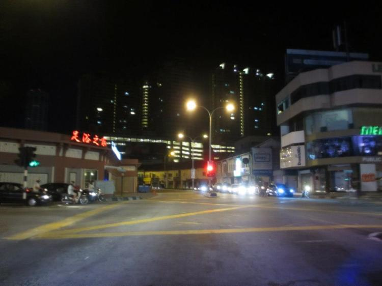 Late at night and we were lost in Penang!
