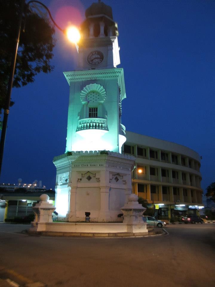 The Queen Victoria Memorial Clock Tower...