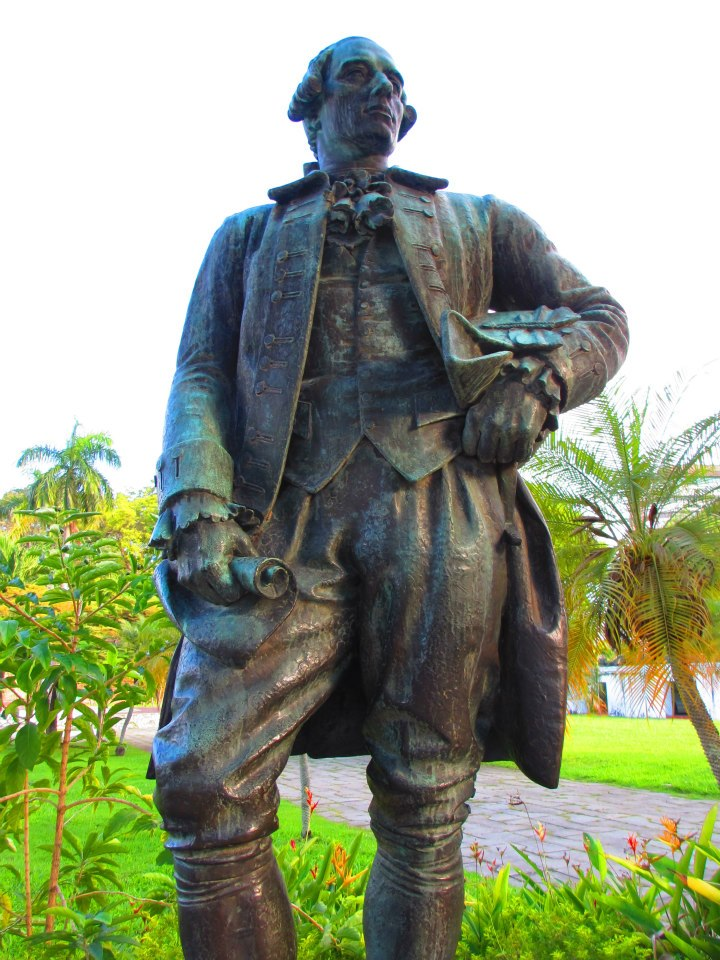 Statue of  Captain Sir Francis Light. The sword in his right hand was melted by the Japanese when they invaded Penang.