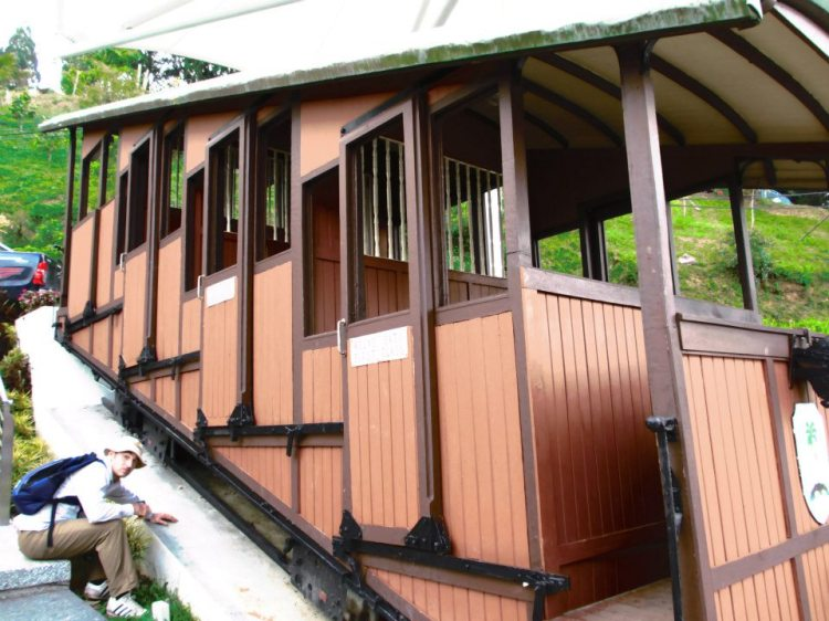 The original coach of the Penang Hill funicular train system...