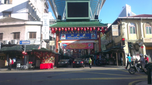 On the way to the KL Bird Park. This is the Petaling Street, Malaysian's Chinatown.