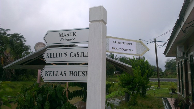 The signboard at Kellie's Castle...