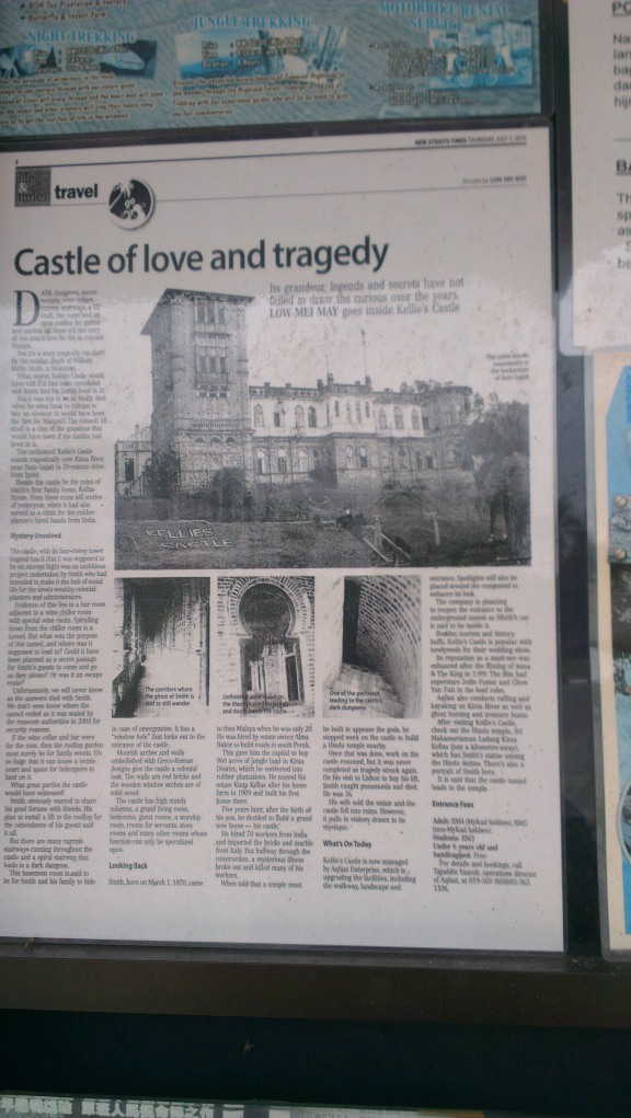 A newspaper article about the castle...