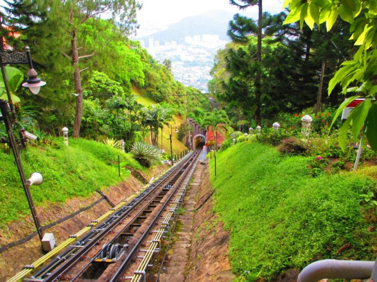 The view from the Upper Station, Penang Hill.