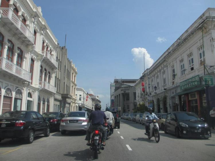 A street with old buildings in Georgetown...