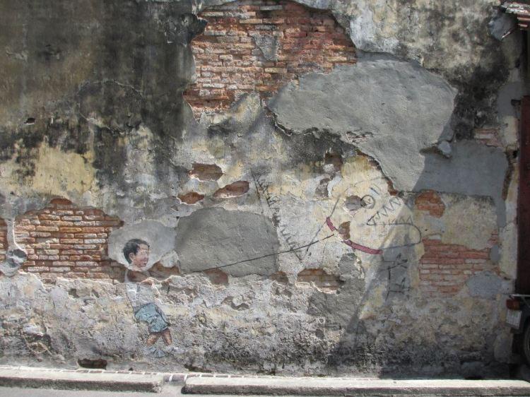 """""""Little Boy with Pet Dinosaur"""" Mural..."""