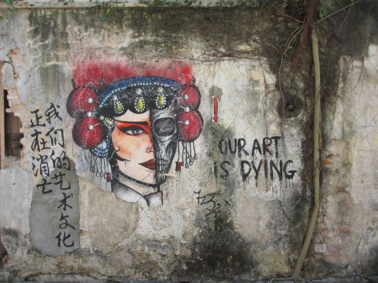 Our art is dying mural @ Lebuh Ah Quee...