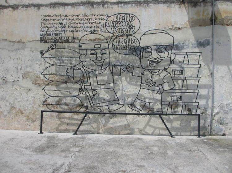 Orang Kaya & Tauke... The sculptures in Georgetown are meant to educate the public of its history...