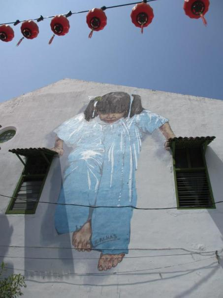 """Little Girl in Blue"" mural..."