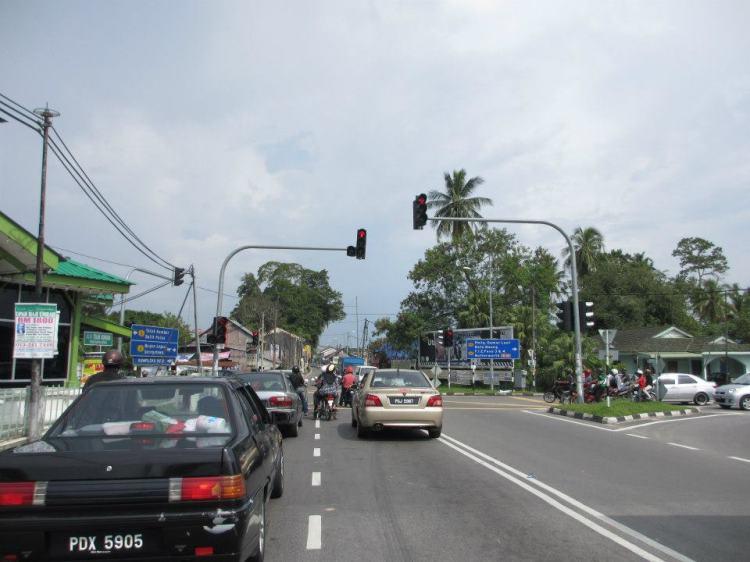 On the way to Bayan Lepas from Balik Pulau...