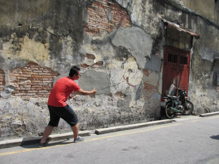 The murals were done by Lithuanian artist, Ernest Zacharevic...