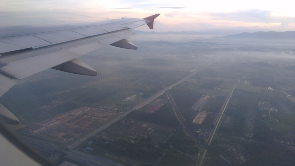 7.34 am - left KLIA-LCCT heading towards Semarang...