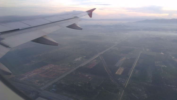 7.34 am - left KLIA-LCCT heading towards Semarang...