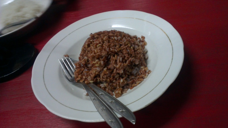 The brown rice / nasi merah.p/s: Tim, what is this rice made of?? Hehe.