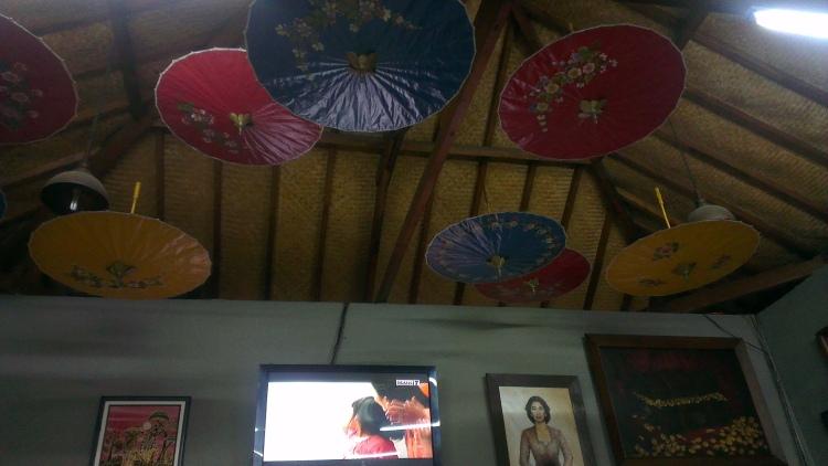 Interior decoration at Mbah Jingkrak, Semarang, Indoensia.