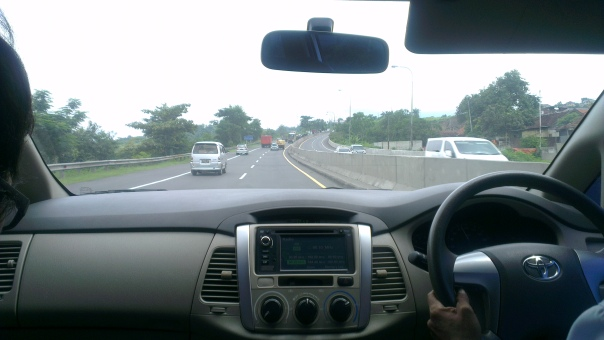 On the highway from Semarang heading towards Borobudur...