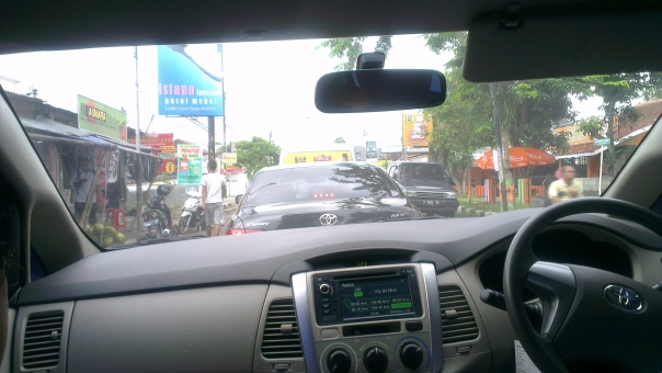 A very very bad traffic jam on the way to Borobudur temple...