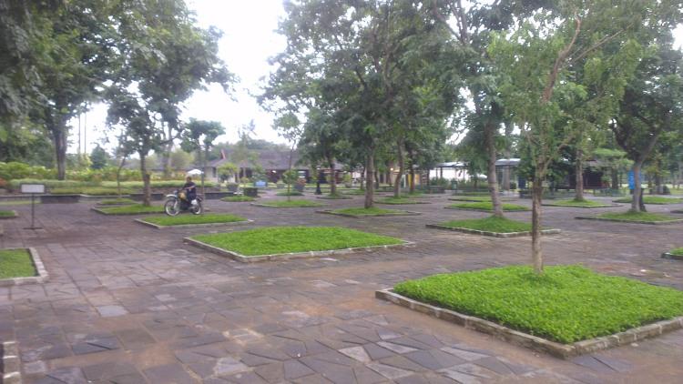 Surrounding area of the Borobudur Temple...