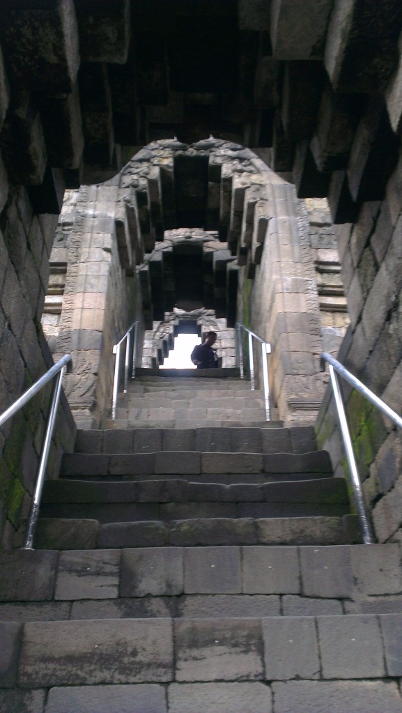 Stairs through the arches of Kala...