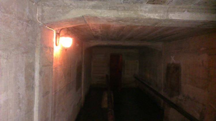 Lawang Sewu's tunnel. We were told that a lot of people had seen ghosts here...
