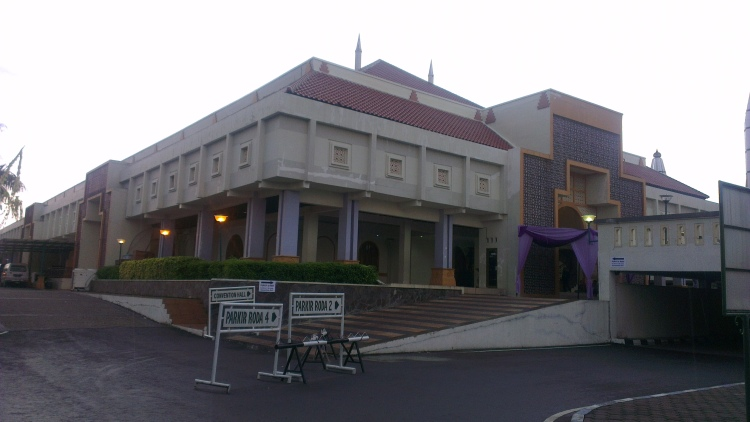 The mosque's convention centre...