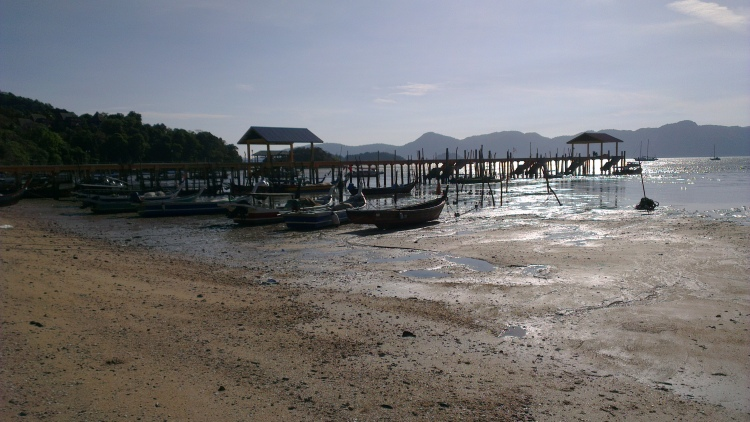 It was low-tide, so the boats couldn't take off from here...