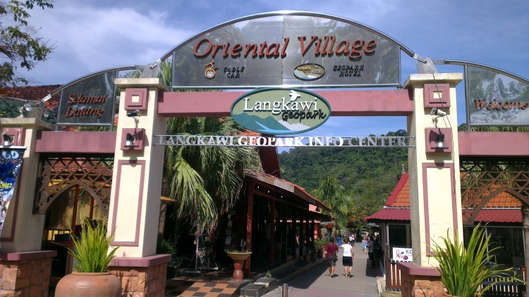 The entrance to the Oriental Village...
