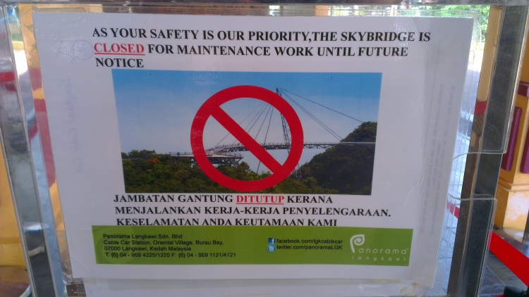 Skybridge was closed [February 2013]