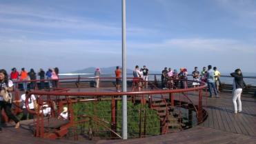 The observation deck...