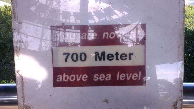 700 meters, man!