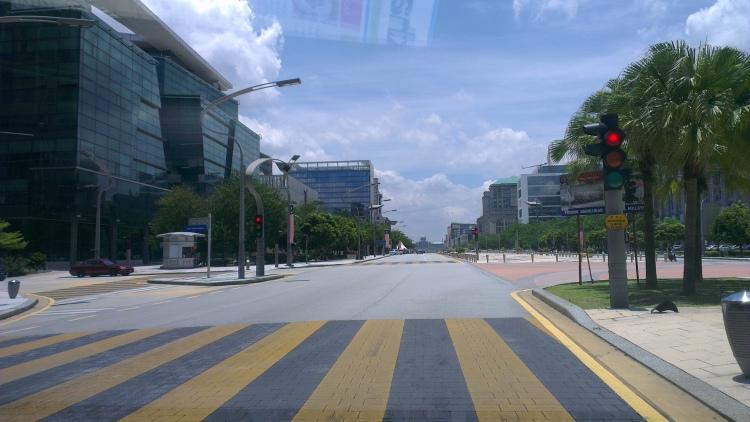 Main boulevard in Putrajaya...