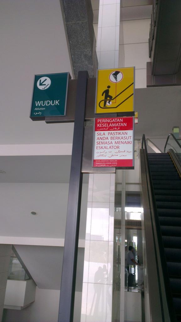 Multilingual signage...