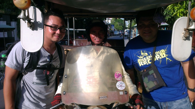 Me, our tuk tuk driver Mr Sing and Aiman...