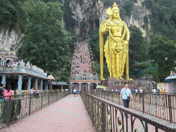 The path leading to Batu Caves main entrance...