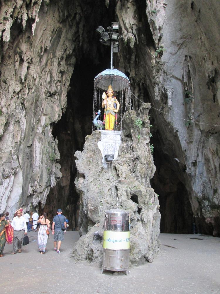 One of the shrines in Batu Caves.