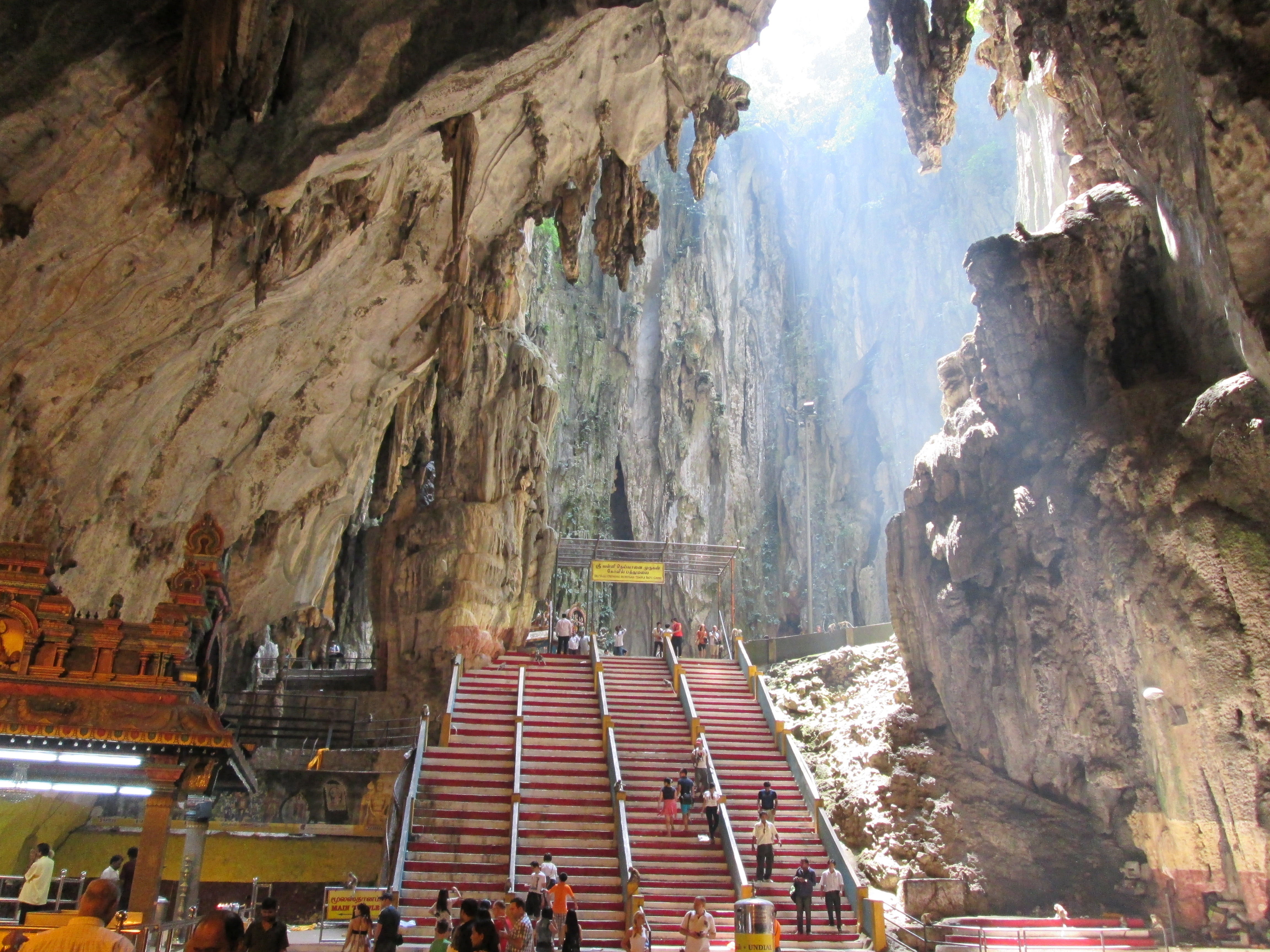 Batu caves is amazing on its own it is believed that the limestone