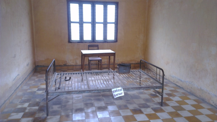 One of the rooms in the museum. This type is normally for the top officials of the Khmer Rouge regime who was captured.