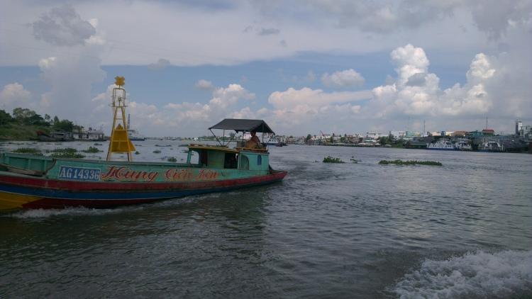 Approaching the town of Chau Doc, Vietnam.