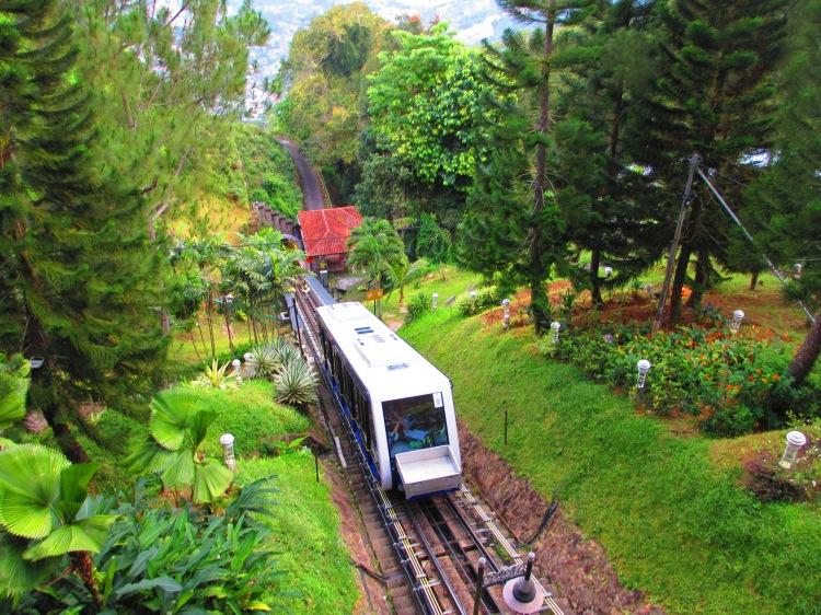 The funicular train at Penang Hill...