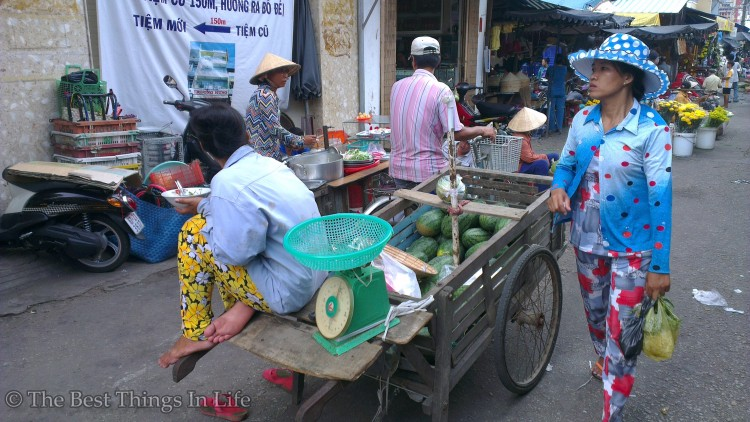 Daily life of people in Chau Doc.