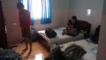 Our room at the hotel. It is cheap. RM 60/USD 20 for 4 people/night.