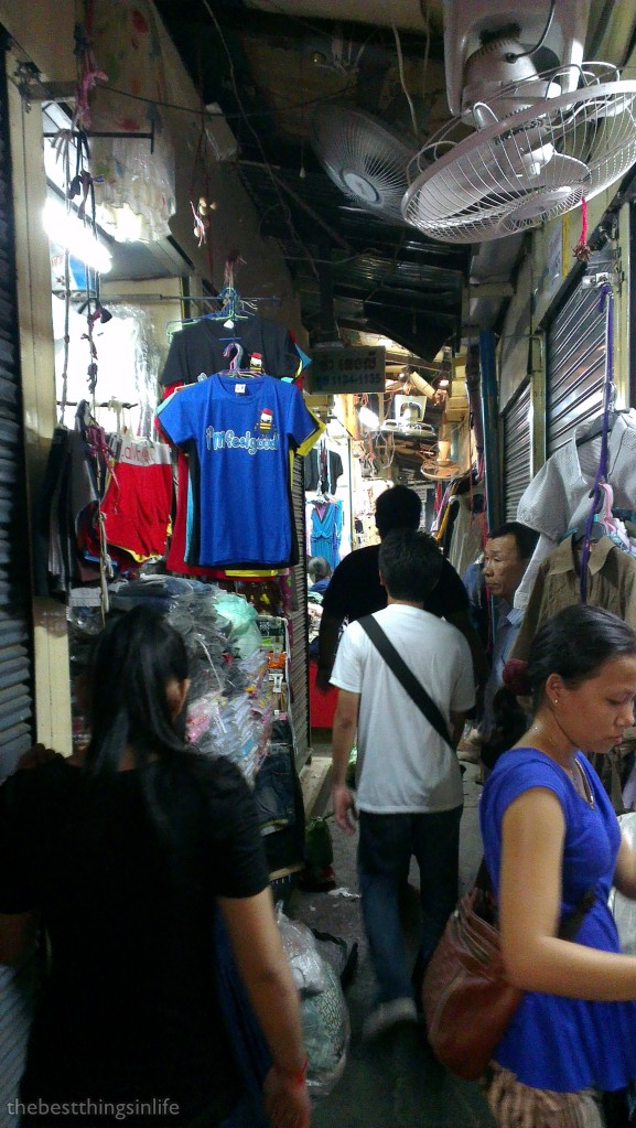Walking through the small alley at the Russian Market.