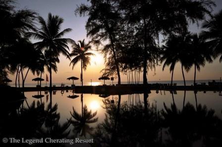 Sunrise at the Legend Cherating Resort...