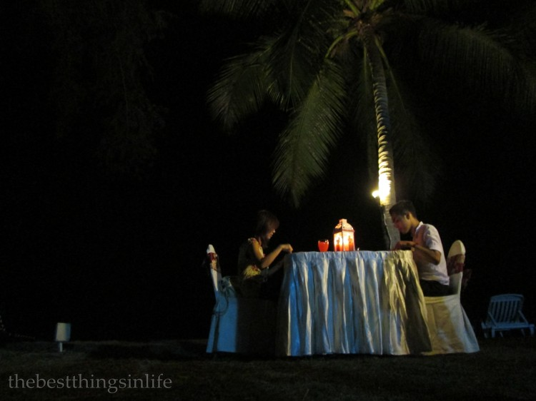 A romantic candle light dinner :)
